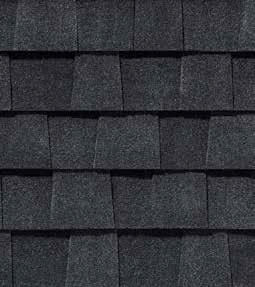Charcoal black shingle color