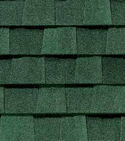 Hunter green shingle color