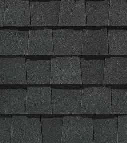Max def charcoal black shingle color