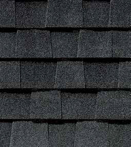 Moire black shingle color