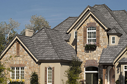 Tile roof on home